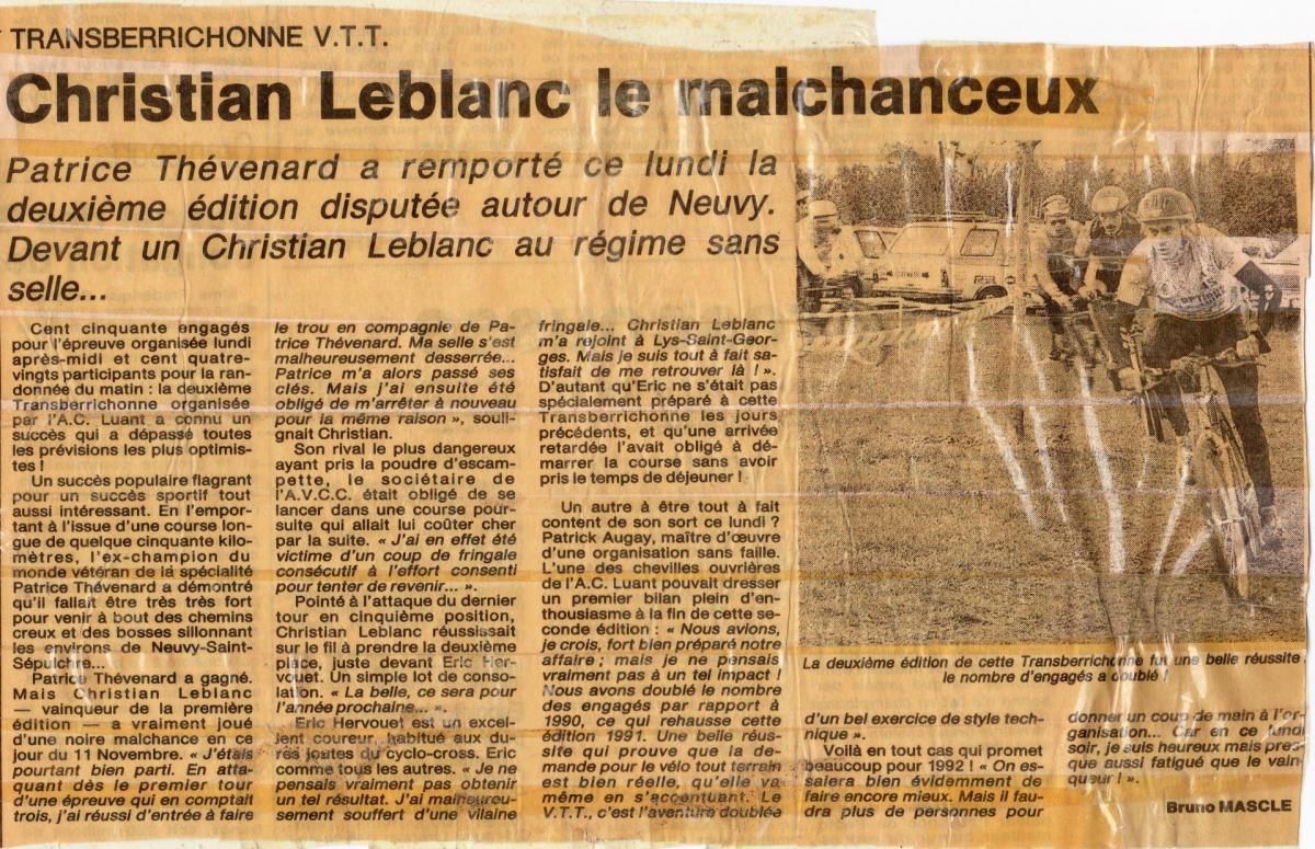 1991 resultats
