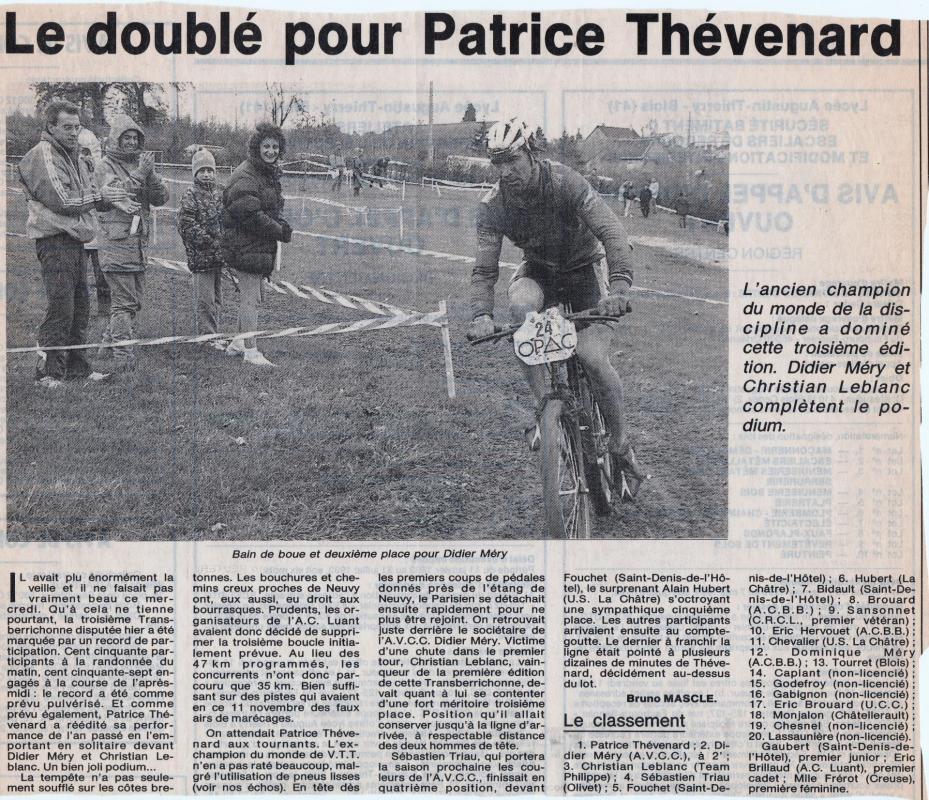 1992 3eme tb resultats