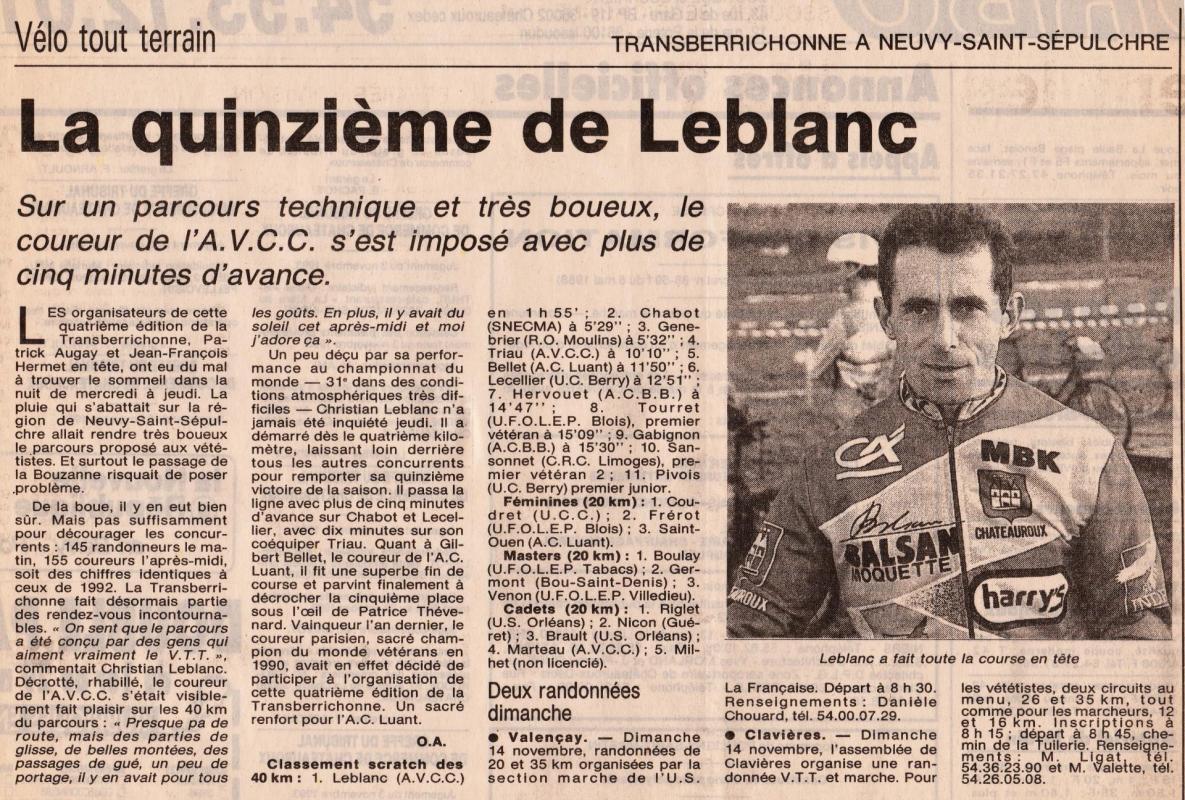 1993 resultats