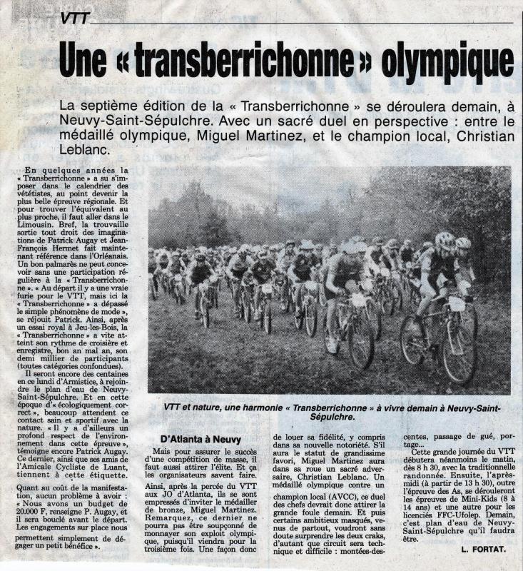 1996 Une Transberrichonne olympique