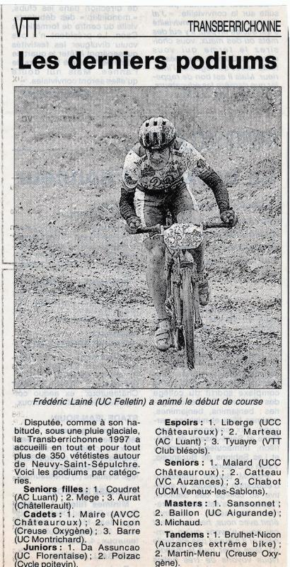1997 podiums