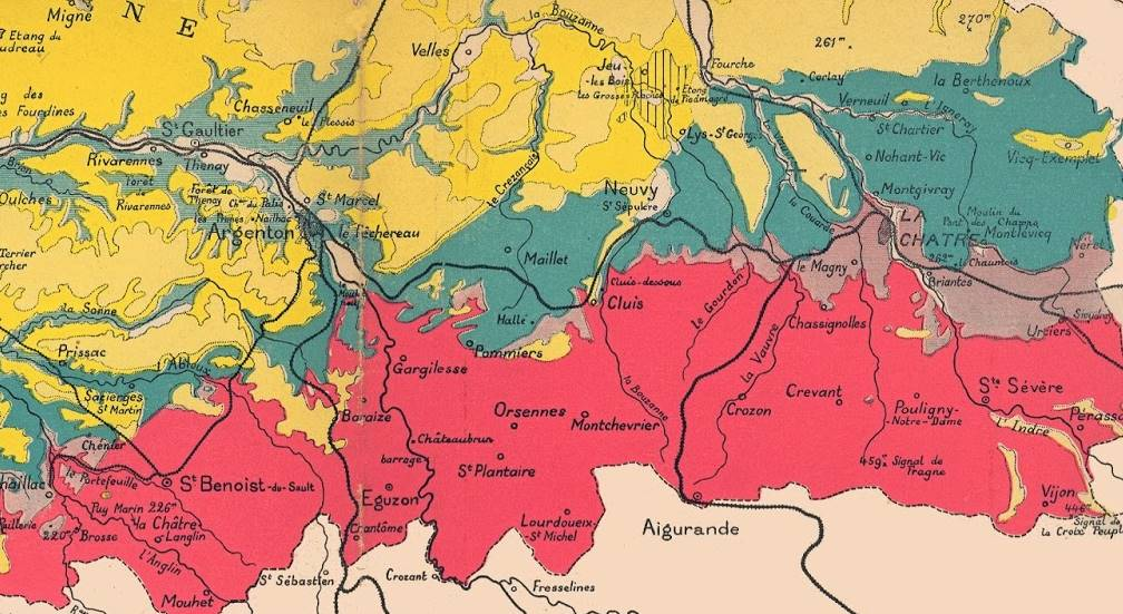Boischaut sud geologie